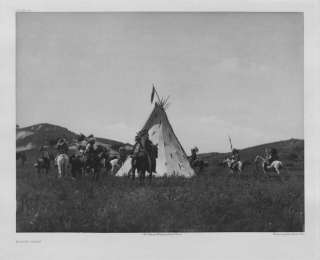 NOW OLD AMERICAN INDIAN PHOO PRIN SIOUX CAMP EEPEE  