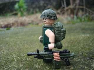 CUSTOM LEGO MINIFIG U.S. ARMY VIETNAM WAR GUNNER RARE