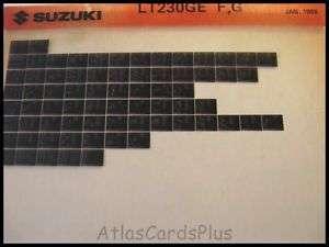 Suzuki Microfiche LT230GE 1985 1986 ATV Quad LT 230 GE