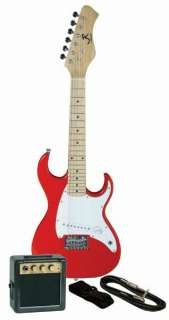 Reynolds Childrens/Kids Mini Electric Guitar Prelude Package   Red