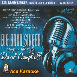 Pocket Songs Karaoke PSCDG 6092   Big Band Singer CDG