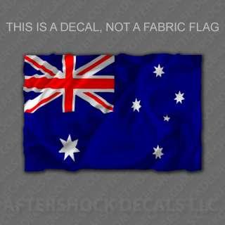 Australia Flag Decal Aussie Bumper Sticker