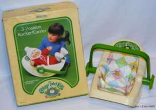 Cabbage Patch Kids Rocker/Carrier & Box Vintage 1983 3 Position Seat