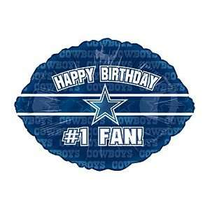 Happy Birthday #1 Fan! Dallas Cowboys NFL Football Logo