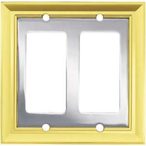 Brainerd Architectural Double Decorator Wall Plate, Polished Chrome