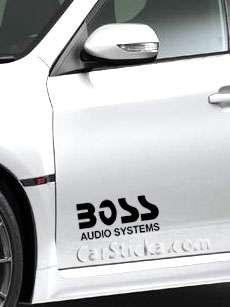 Boss Audio Systems car vinyl sticker decal