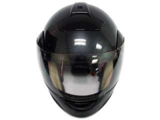 CARBON FLIP UP MODULAR FULL FACE MOTORCYCLE HELMET ~L