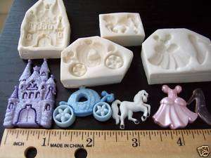 Princess Castle Dress Carriage Horse Lot Clay Push Mold