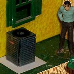 Modern Goodman Central Air Conditioner for Plasticville & Lionel 027