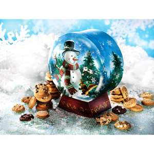 Mrs. Fields Holiday Snow Globe Gift Box with 36 Cookies Gift Baskets