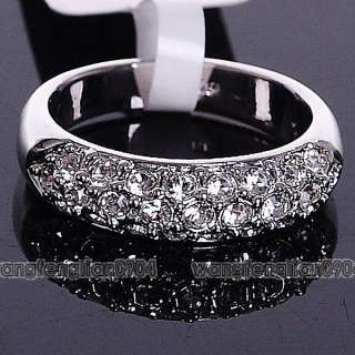 18Kt cz Gold Plated band Charming Ring 091546