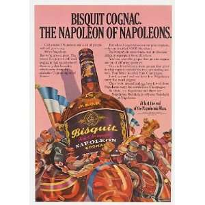 Bisquit Fine Champagne Napoleon Cognac Bottle Print Ad Home & Kitchen