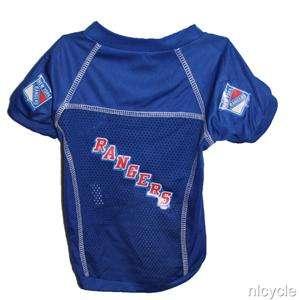 New York Rangers NHL Pet Dog Blue Jersey Shirt Medium M