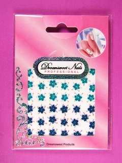 Glitter Gel Nail Art Flower Sticker Floral Decals NFC10