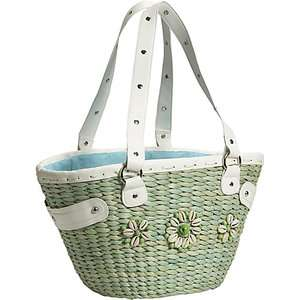 Bamboo 54 PU Grass Shell Tote Bags