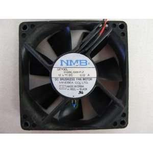 NMB 12 Volt DC 0.12a 80x20mm 2 Wire Brushless Fan 3108NL