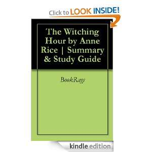 The Witching Hour by Anne Rice  Summary & Study Guide BookRags