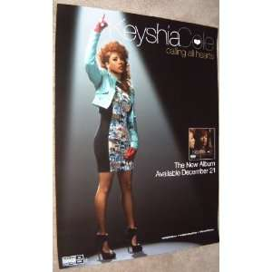 Keyshia Cole   Calling All Hearts   2 Sided Promotional Poster