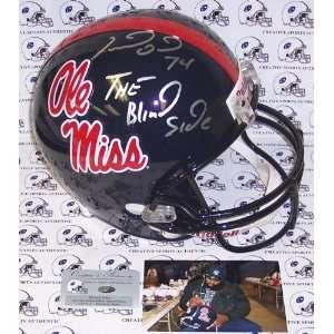 Michael Oher Hand Signed Ole Miss Runnin Rebels Full Size Helmet