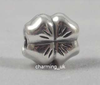 Genuine Pandora Silver 4 Four Leaf Lucky Clover Charm Bead