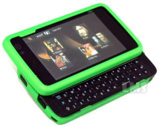 London Magic Store   GREEN HYBRID HARD COVER RUBBER CASE FOR NOKIA