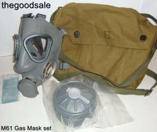 M61 Finnish Military Survival Gas Mask & 60mm Filter with Carry Bag