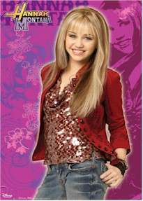 TV POSTER ~ HANNAH MONTANA (Miley Cyrus) TEEN BY DAY