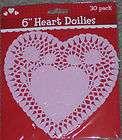 new lot 30 light pastel pink 6 heart doilies paper