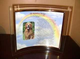PERSONALIZED PET MEMORIAL POEM PRINT FRAMED DOG CAT
