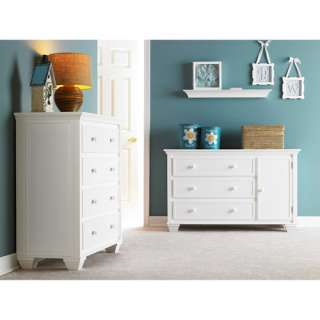 Graco Portland 4 Drawer Dresser, Solid Wood Drawer Dresser, White