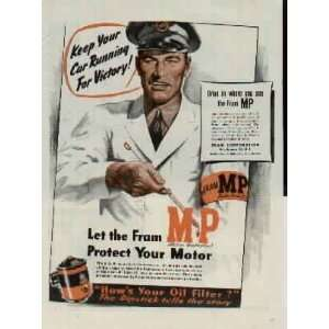 with oil filters.  1944 FRAM Oil Filters Ad, A6121. 19440529
