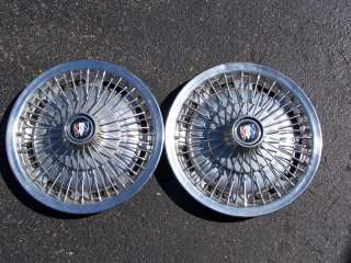 67 72 Buick Special, Skylark Wire Wheel Covers, Hubcaps