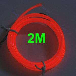2M Flexible Neon Light Glow EL Wire Rope Car Party 7#