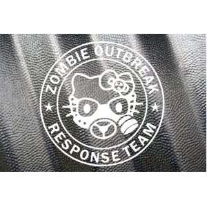 Hello Kitty Mask Zombie Outbreak Response Team Vinyl Decal Sticker