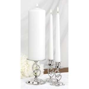 Sparkling Love Heart Wedding Unity Candle Holder Stands