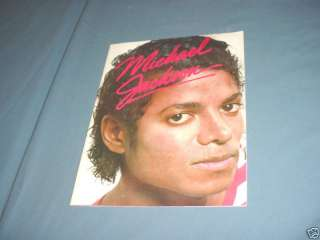 MICHAEL JACKSON 1984 Picture Biography Book Vintage
