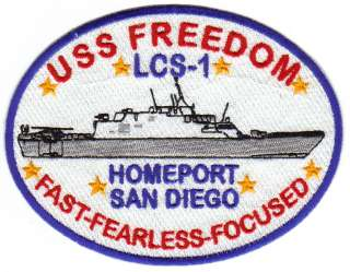 US NAVY SHIP PATCH, USS FREEDOM, LCS 1 Y