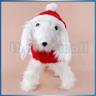 Pet Dog Puppy Santa Christmas Dress Costume Apparel Red