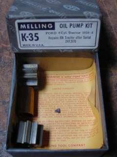 Ford 8N Tractor Melling Oil Pump Rebuild Kit