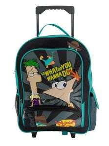 Phineas and Ferb Perry Large Rolling Backpack Luggage