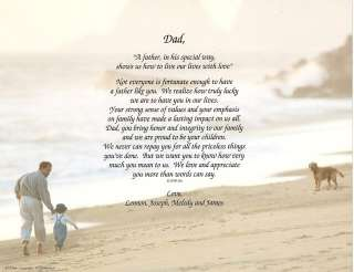 STEP DAD FATHER PERSONALIZED POEM PRINT GIFT WITH MAT
