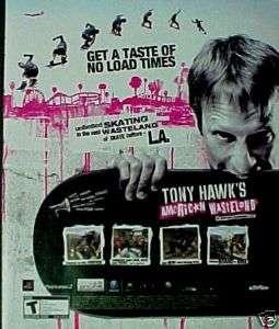 Tony Hawk American Wasteland Skateboarding Game AD