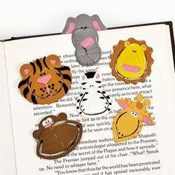 12 JUNGLE SAFARI ZOO ANIMAL BOOKMARKS PARTY FAVORS bag