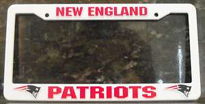 New England Patriots NFL Football League License Plate Plastic Frame