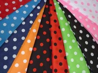 RETRO POLKA DOTS spots PRINT dress FABRIC various COLOR