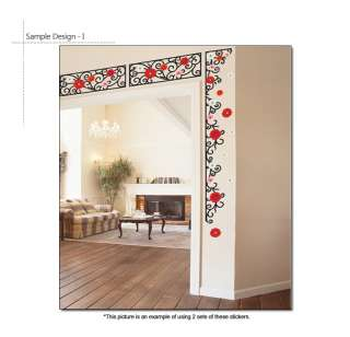 ] Beads Flower Vine Home Decor Art Wall Sticker Peel & Stick Decal