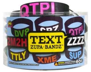 ZUPA Bandz TEXT Message Rubber Bracelet Wristband Band