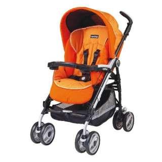 NEW Peg Perego Pliko P3 Compact Umbrella Apricot Orange Baby Stroller