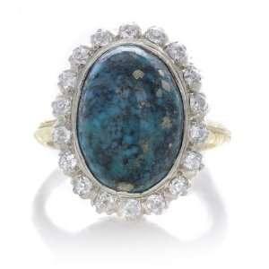 Antique Diamond Pietersite Platinum Gold Victorian Ring